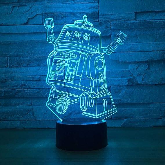 LLZGPZXYD 7 Colores Novedad 3D Led Visión Táctil Sola Rueda Robot ...