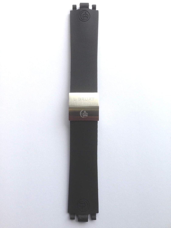 L. Bruat - LB45 de Repuesto de Reloj de Pulsera, Negro,: Amazon.es: Relojes