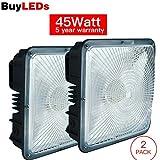 Buyleds LED Canopy Light,High Bay Balcony Carport Driveway Ceiling Light Lamp Fixture (45)