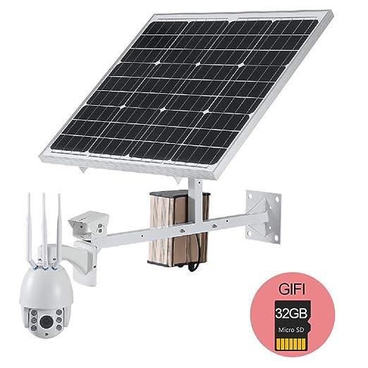 60W Panel de energía solar Cámara IP Wifi 1080P HD 3G 4G ...