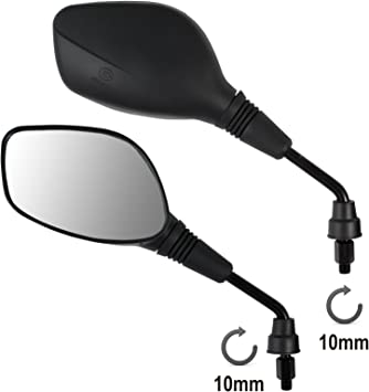 A Pro Rearview Mirrors Scooter M10 Motorcycle Motorbike Handlebar Universal Moped Auto