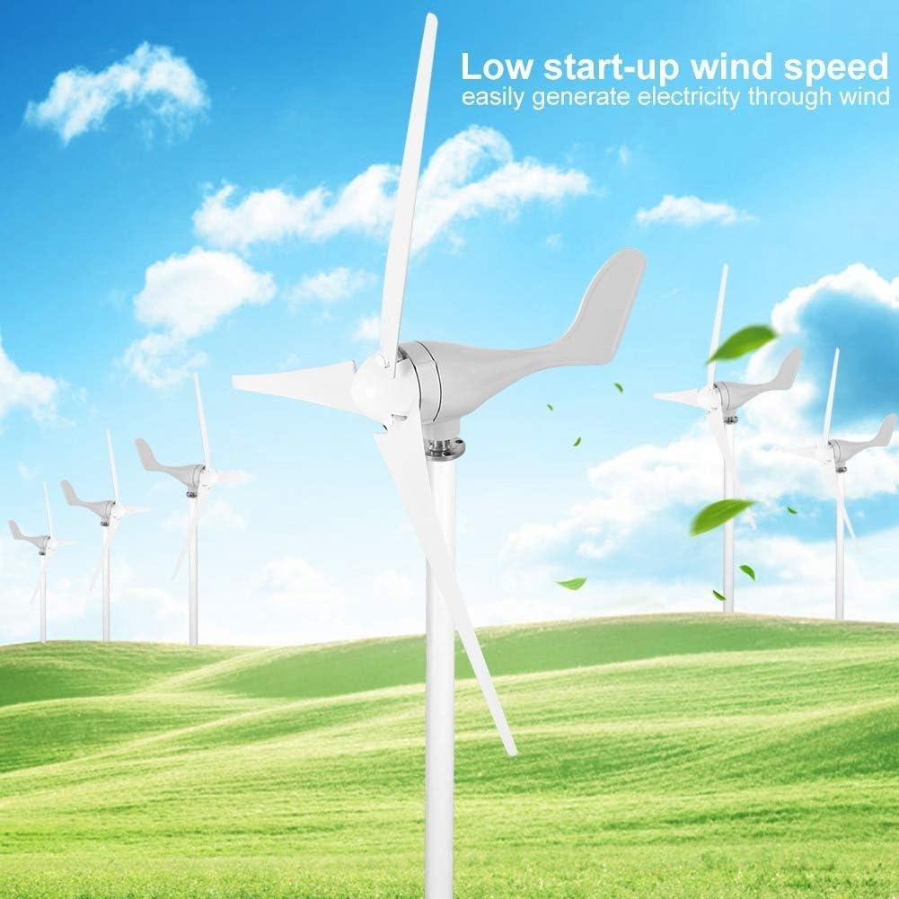GJZhuan 2020 500W 12 / 24V Aerogenerador con 3 Nylon Hojas De Fibra For Uso Doméstico Luces De Calle Solares, Controlador Marine Y con Controlador De Carga Fit Generador De Hogares (Size : 12V)