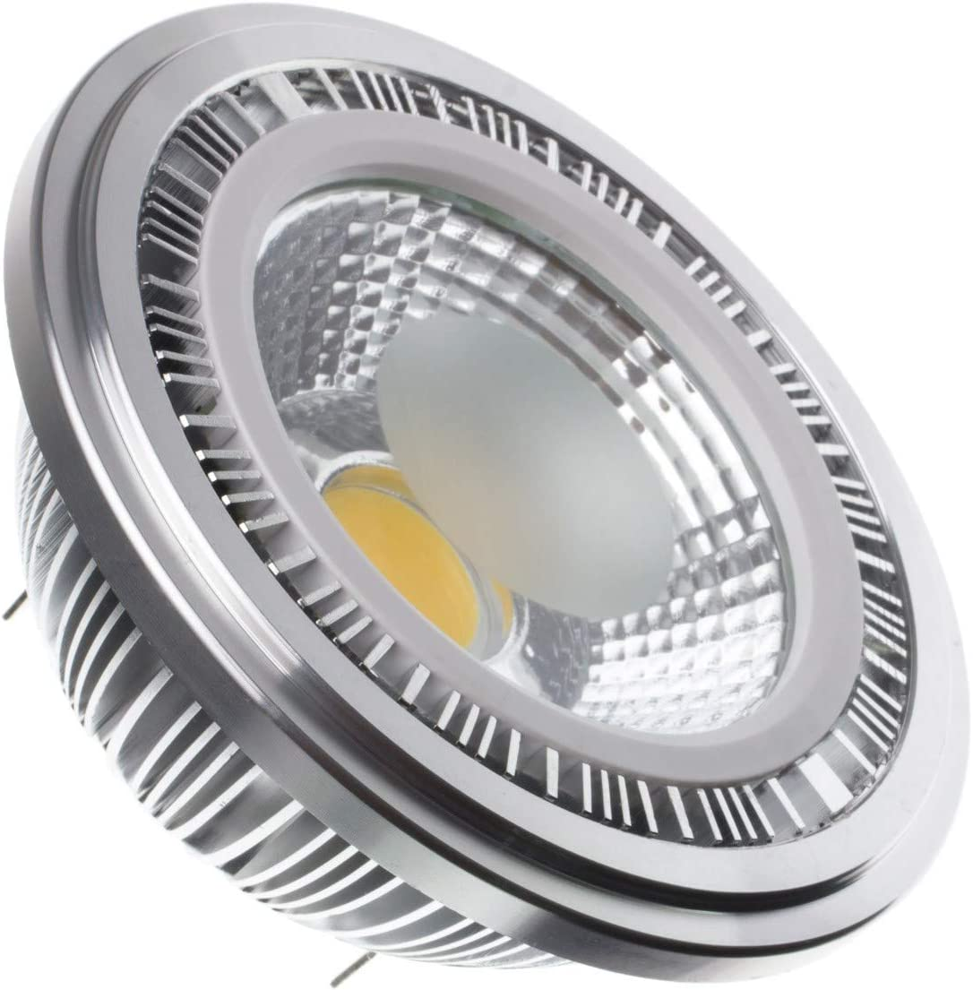 LEDKIA LIGHTING Bombilla LED AR111 COB 15W Blanco Cálido 3000K