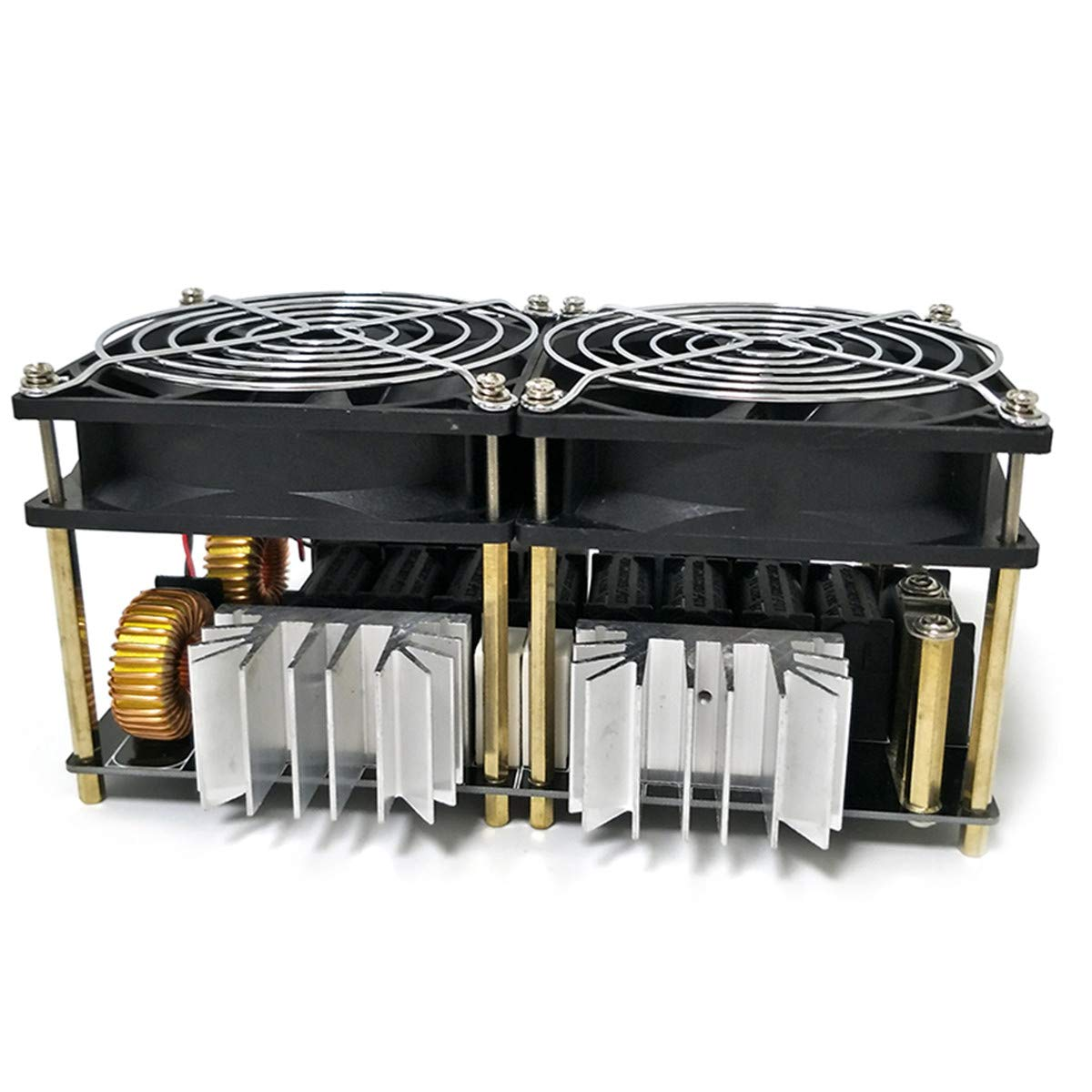 JOINVEN ZVS誘導加熱モジュール スーパーPCBのレイアウト設計 優れた放熱性 誘導加熱器高周波加熱装置溶融金属+コイルMayitr +埚埚+ポンプ 1800W B07G75C3JB