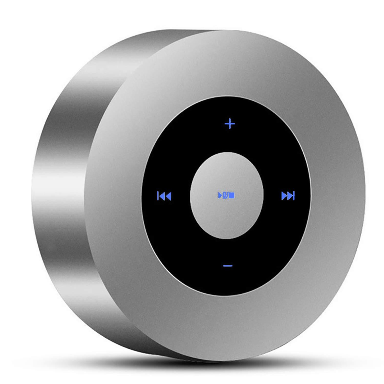 PTron Sonor ポータブルワイヤレスBluetoothステレオスピーカー 低音サウンド シルバー   B07FT74JGP