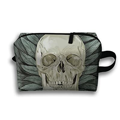 Skull Pieces Small Travel Toiletry Bag Super Light Toiletry Organizer For Overnight Trip Bag