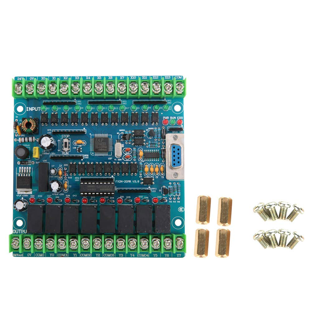 Industrial Programmable Control Board FX2N-20MR 12 Input 8 Output 24V 5A
