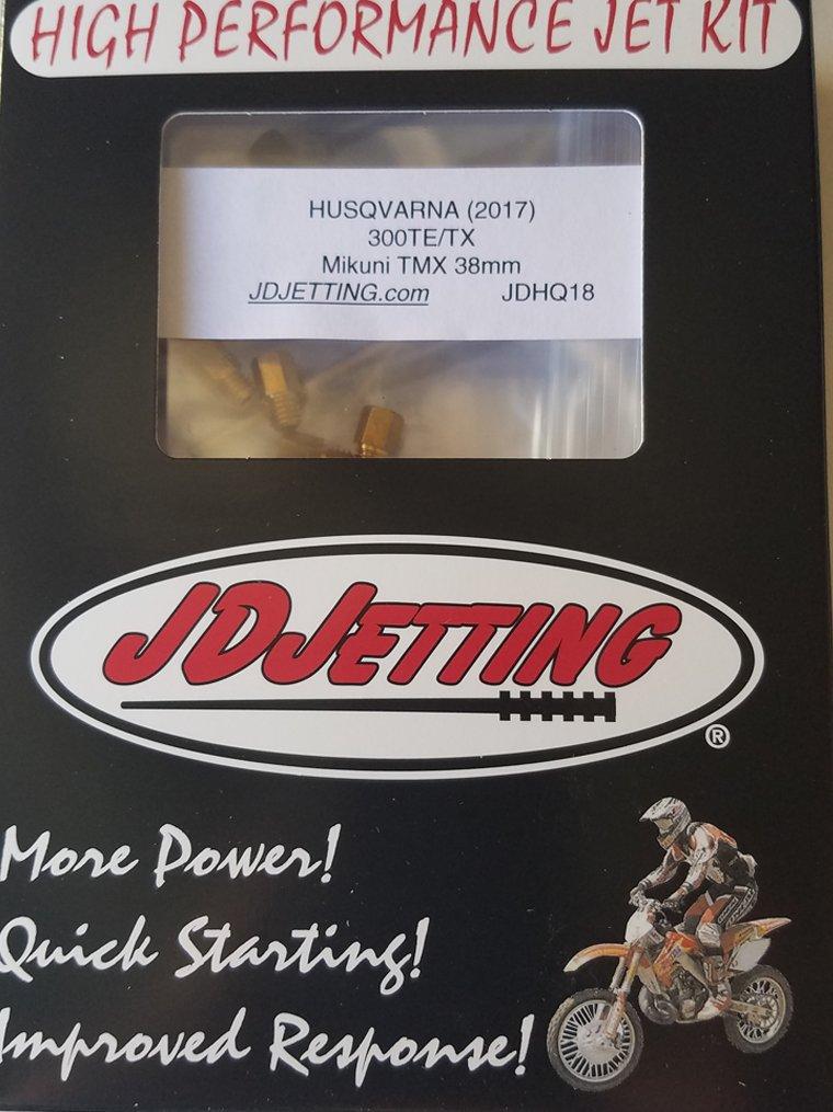 JD Jetting High Performance Mikuni TMX Carburetor Tuning Kit - Husqvarna TE 300 & TX 300 - 2017 _JDHQ18