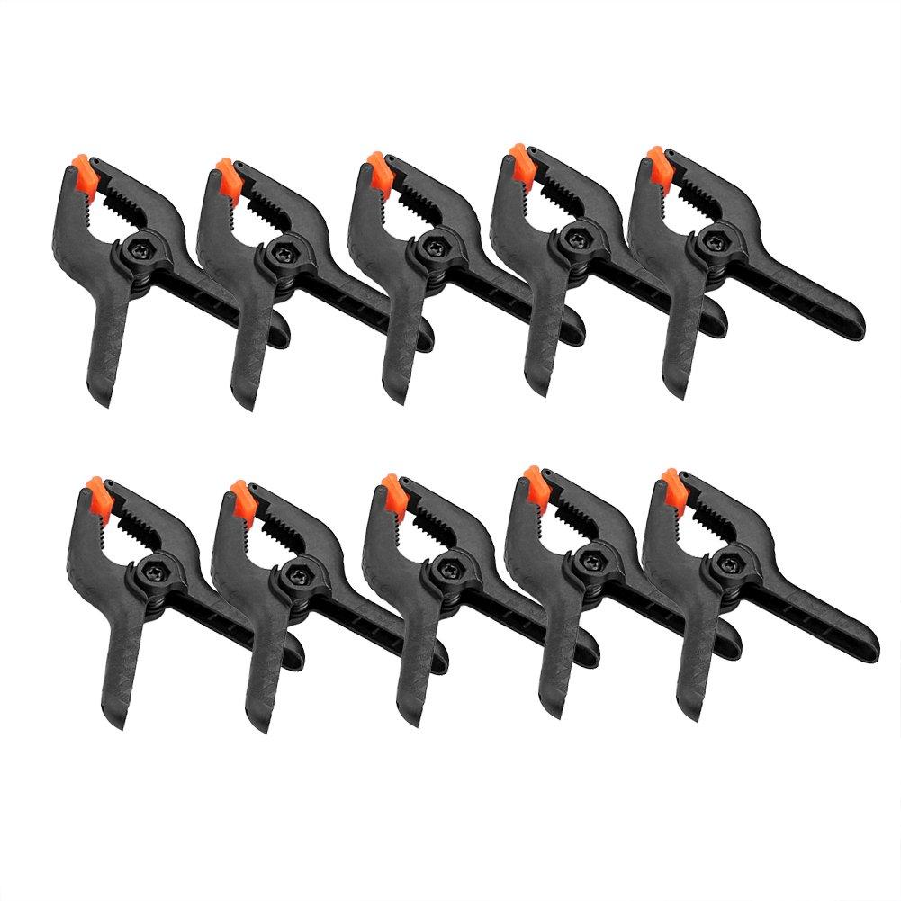 SIENOC 10x Stehhalter Klammer Heavy Duty Kunststoff Nylon Kulisse Federklemme