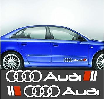 2 X Audi Ringe Linke Rechte Seite Aufkleber Ca 60 Cm 2