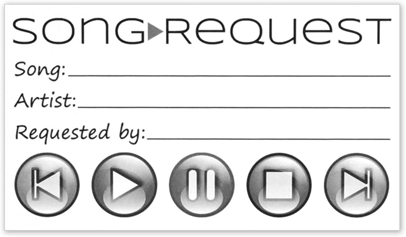 DJ Song Request Slips Vintage Retro Wedding Party