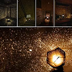 Highpot Romantic Star Cosmos Night Lamp Night Lights Projection Sky Projector Starry Creative Wondeful Gift (Black)