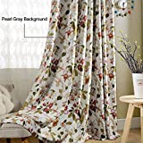 Anady Top Flower Curtain Blackout Bedroom Drapes 2 Panel Bird Curtains Design Drapes for Living Room Grommet 84 inch Length For Sale