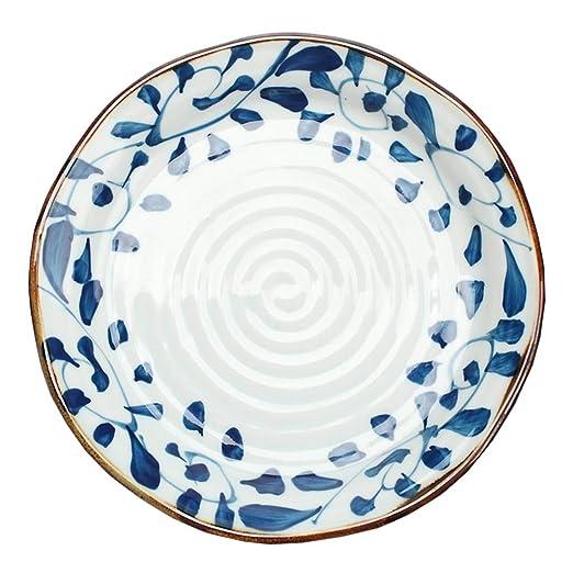 Vajillas Placa De Porcelana Azul Y Blanca De Estilo Chino Redonda ...
