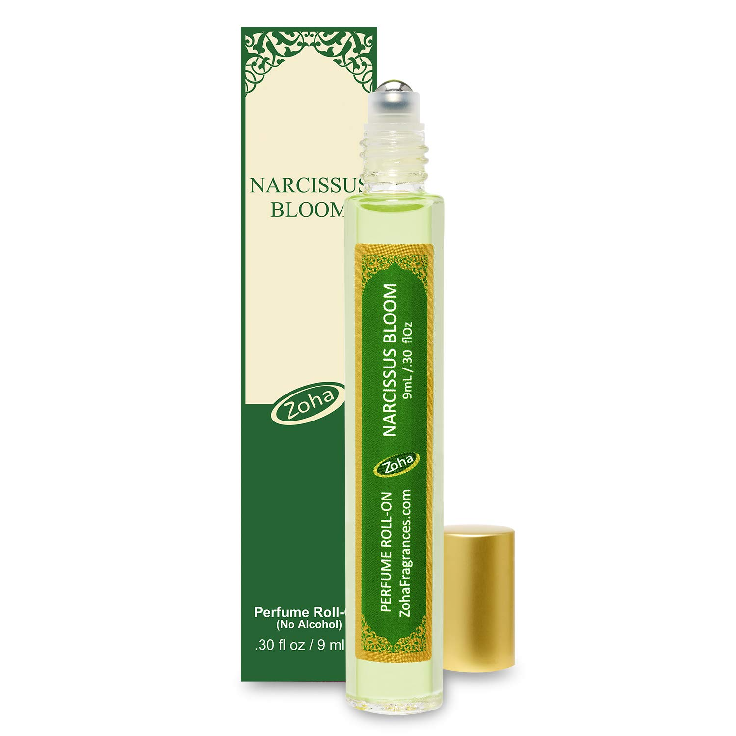 Narcissus Bloom Perfume Oil Roll-On (No Alcohol) - Essential Oils and Clean Beauty Hypoallergenic Vegan Perfumes for Women and Men by Zoha Fragrances, 9 ml / 0.30 fl Oz