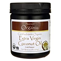 Swanson Certified 100% Organic Extra Virgin Coconut Oil 16 Ounce (1 lb) (454 g)...