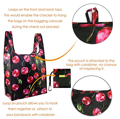 d8231f46d Foldable Reusable Grocery Bags Cute Designs