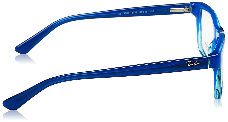 ae51236fb4 Amazon.com  Ray-Ban RY1536 Eyeglass Frames 3731-48 - Blue Striped Gradient  RY1536-3731-48  Clothing