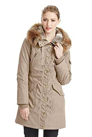 df8083281 1 Madison Expedition Women's Faux Fur Hooded Full Zipper Jacket - XL New  Stone at Amazon Women's Coats Shop