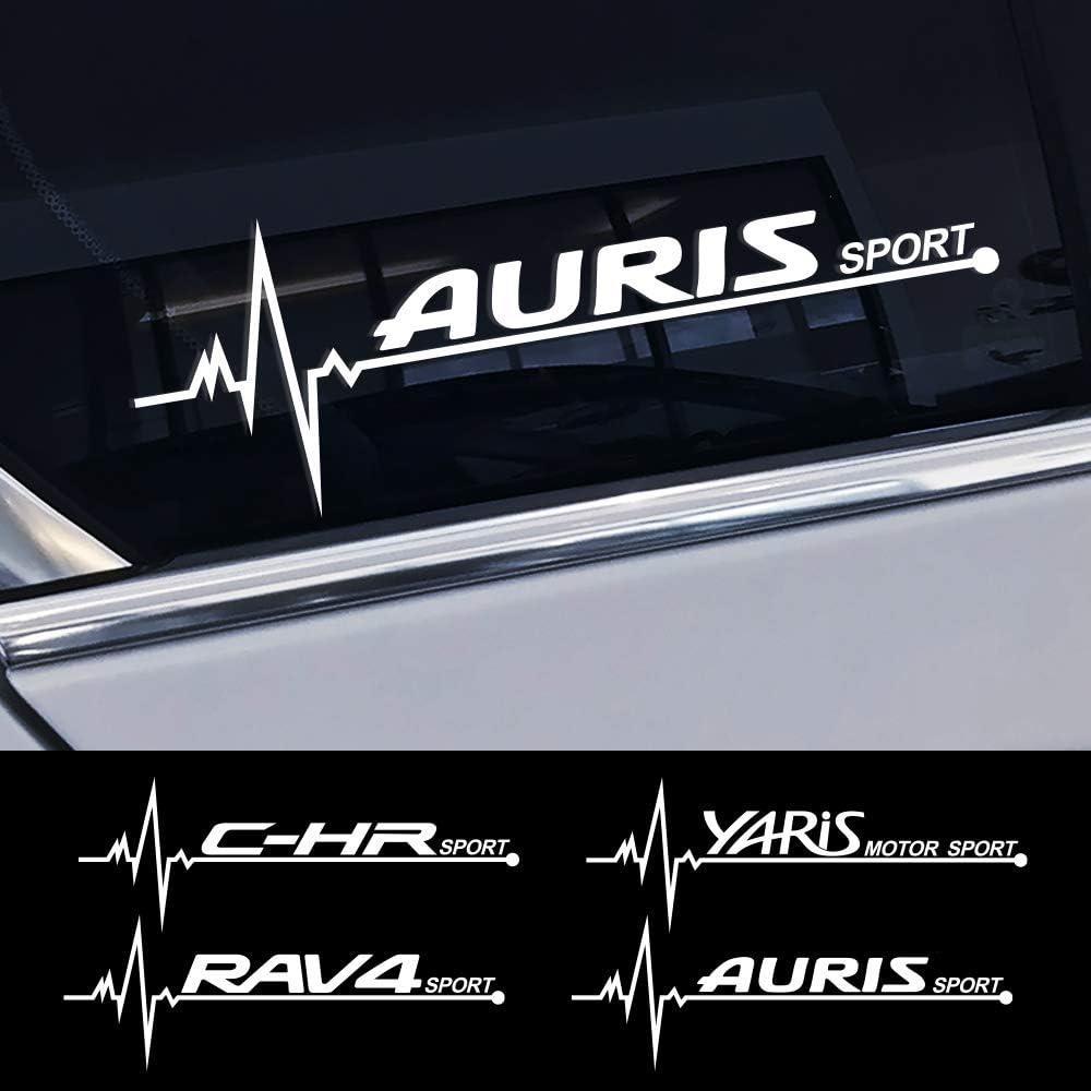 F/ür Toyota CHR RAV4 Yaris Land Cruiser Avalon Highlander Mirai Avensis Fortuner Etios Vios FSXTLLL Auto Seitenstreifen Seitenaufkleber Aufkleber