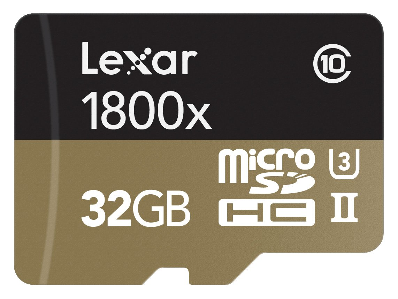 Lexar Professional 1800x microSDHC 32GB UHS-II W/USB 3.0 Reader Flash Memory Card - LSDMI32GCRBNA1800R