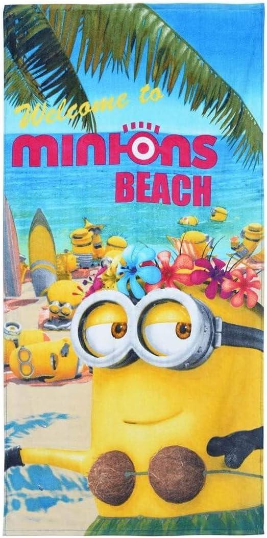 MINIONS 2200001086/Serviette de Plage Multicolore
