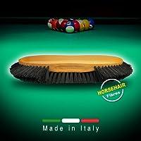 Spazzola biliardo in crine rinforzato. Pulizia del panno del biliardo. Made in Italy