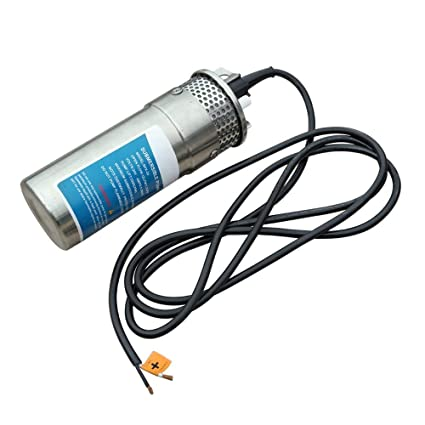 """DC 24V Stainless Shell Submersible 3.2GPM 4/"""" Deep Well Water Pump Solar Battery"""