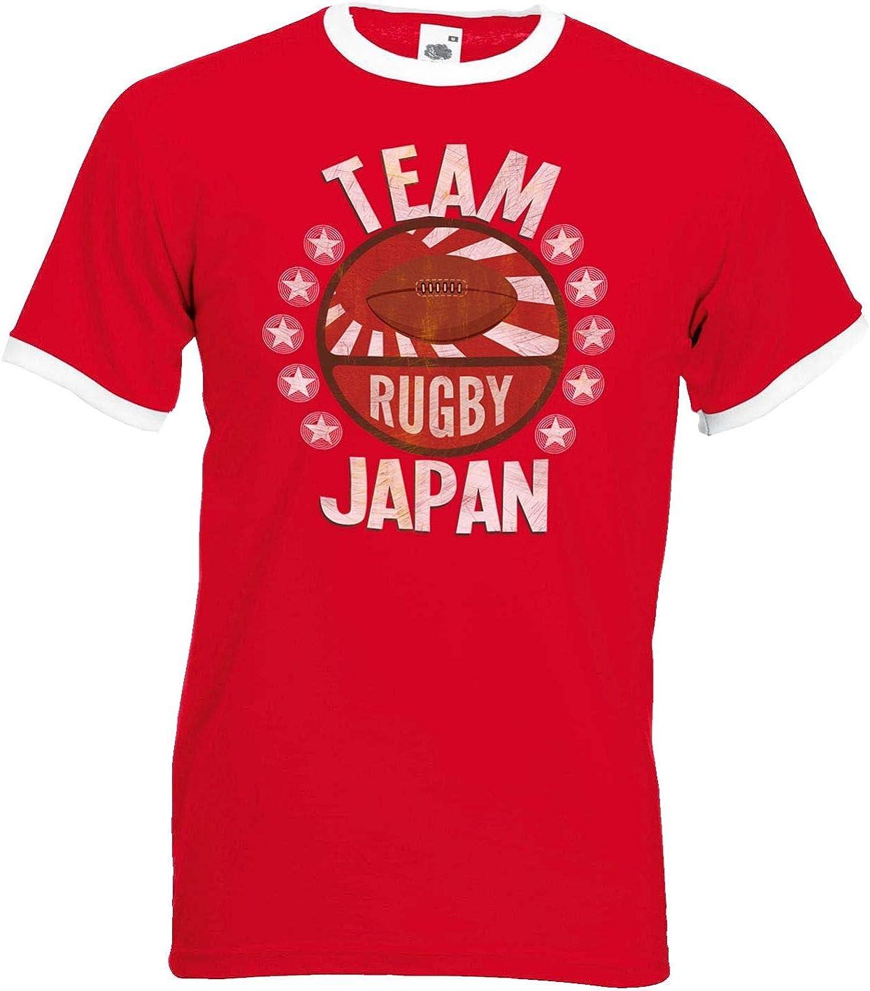 Team Japan Rugby Mens Retro T-Shirt Camiseta Para Hombre Perfect ...