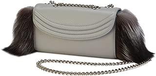 product image for Women's designer handbags - Fox Fur Sorella Handbag - Genuine Italian Leather - Lauren Cecchi New York Handbag