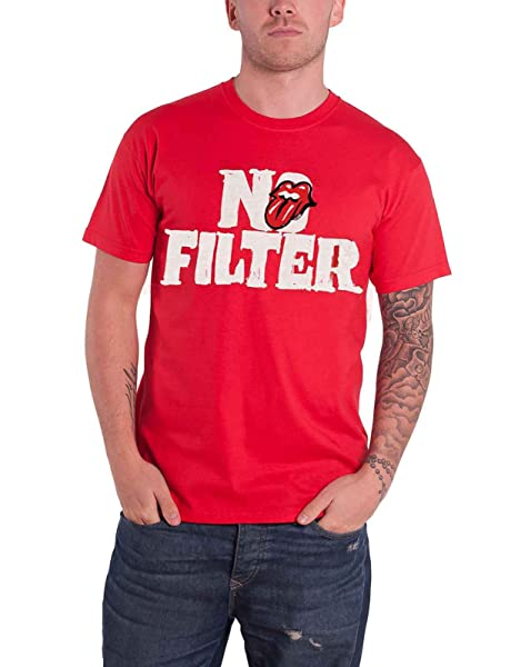 The Rolling Stones T Shirt No Filter Tour Header Logo S Red