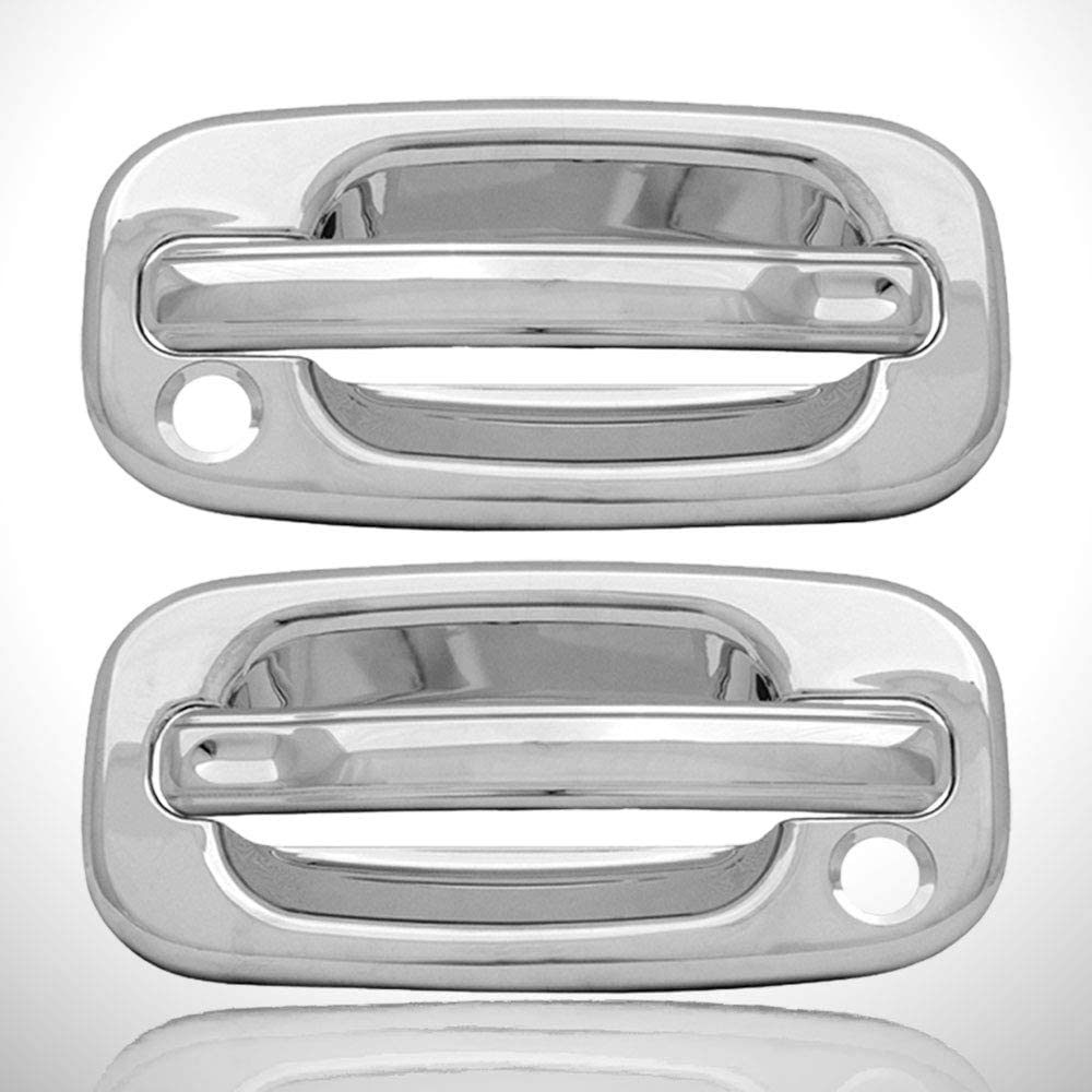 CHEVY GMC PICKUP 99-06 NEW 2DR CHROME DOOR HANDLES REPLACEMENT UPGRADE Silverado
