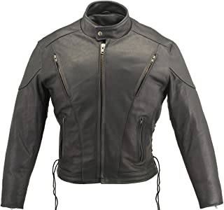 product image for Men's Vented Leather Jacket