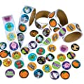 Rhode Island Novelty Assorted Halloween Stickers, Pack of 1000