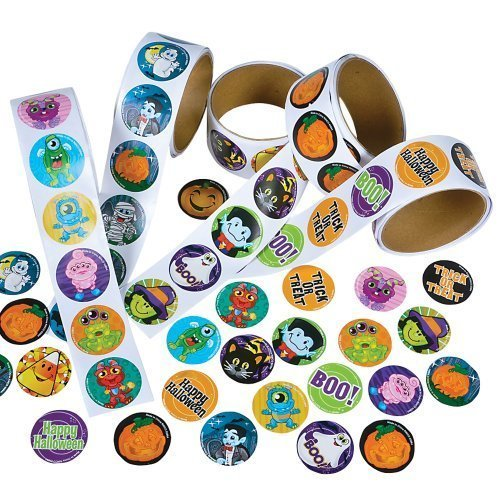 Rhode Island Novelty Assorted Halloween Stickers, Pack of 500 (Party City Halloween Costumes In Store)