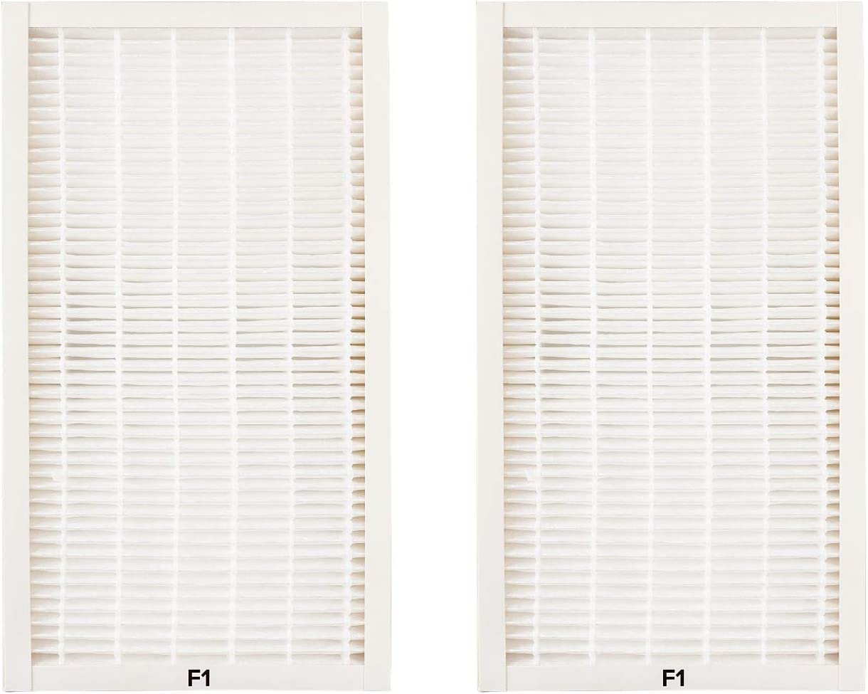 Nispira HEPA Replacement Filter F1 Allergen Reduction Compatible with Filtrete Air Purifier C01 T02. Compared to Part FAPF-F1-A. 2 Units