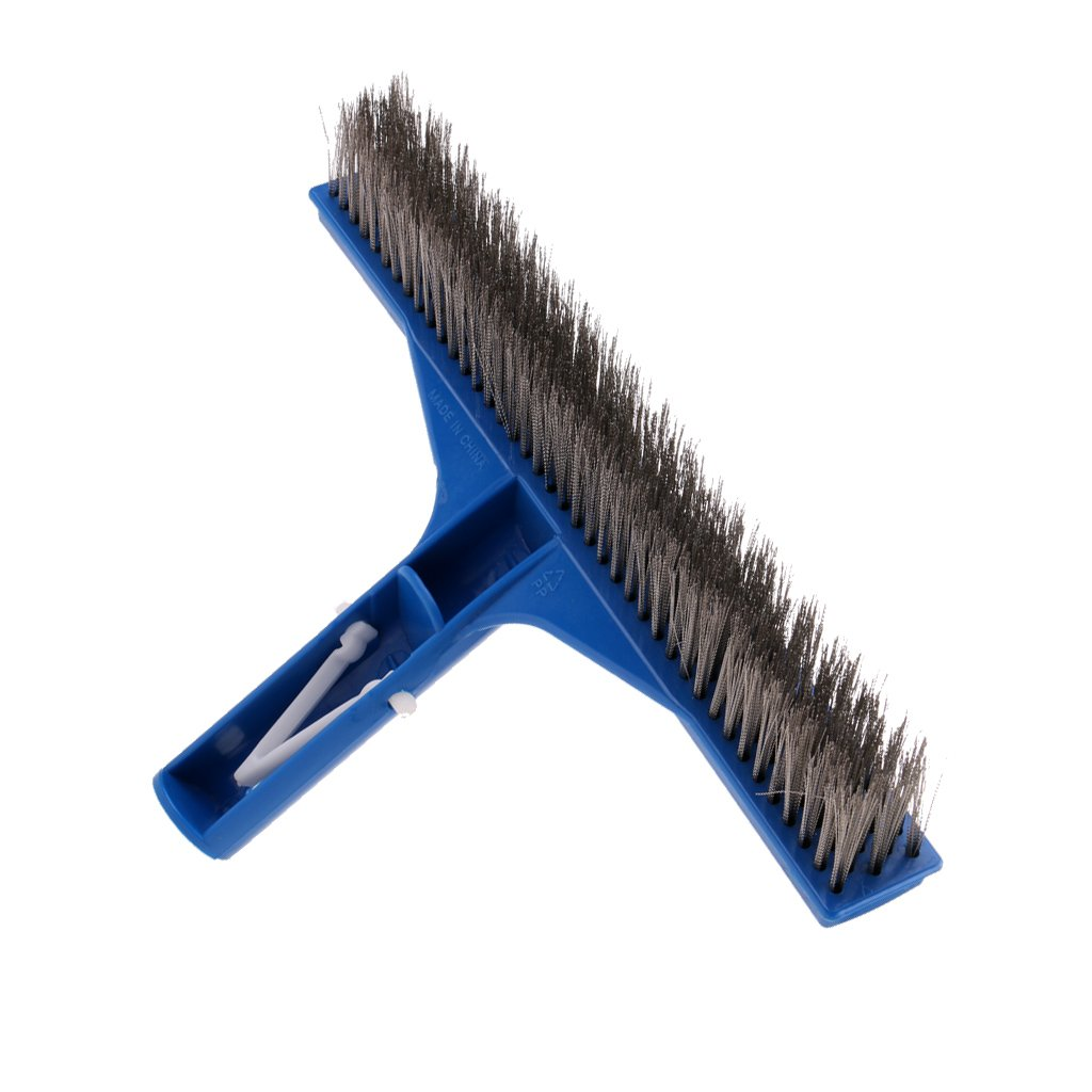 Flameer Lightweight 10'' Swimming Pool Head Brush Cleaner Heavy Duty Ground Cleaning Tool Parts