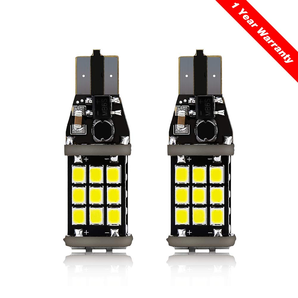 T15 921 LED Bulbs-High Power 1100Lm 2835 21-SMD Chipsets Error Free 912 921 T15 W16W Led Canbus for Back up Lights Reverse Lights 6000K BORDAN