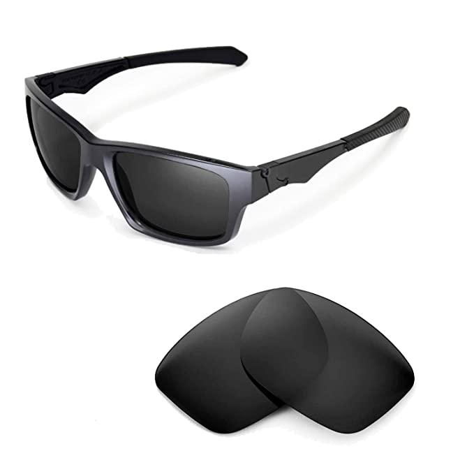 99315f3ddd8f6 Walleva Replacement Lenses for Oakley Jupiter Squared Sunglasses - Multiple  Options (Black - Polarized)