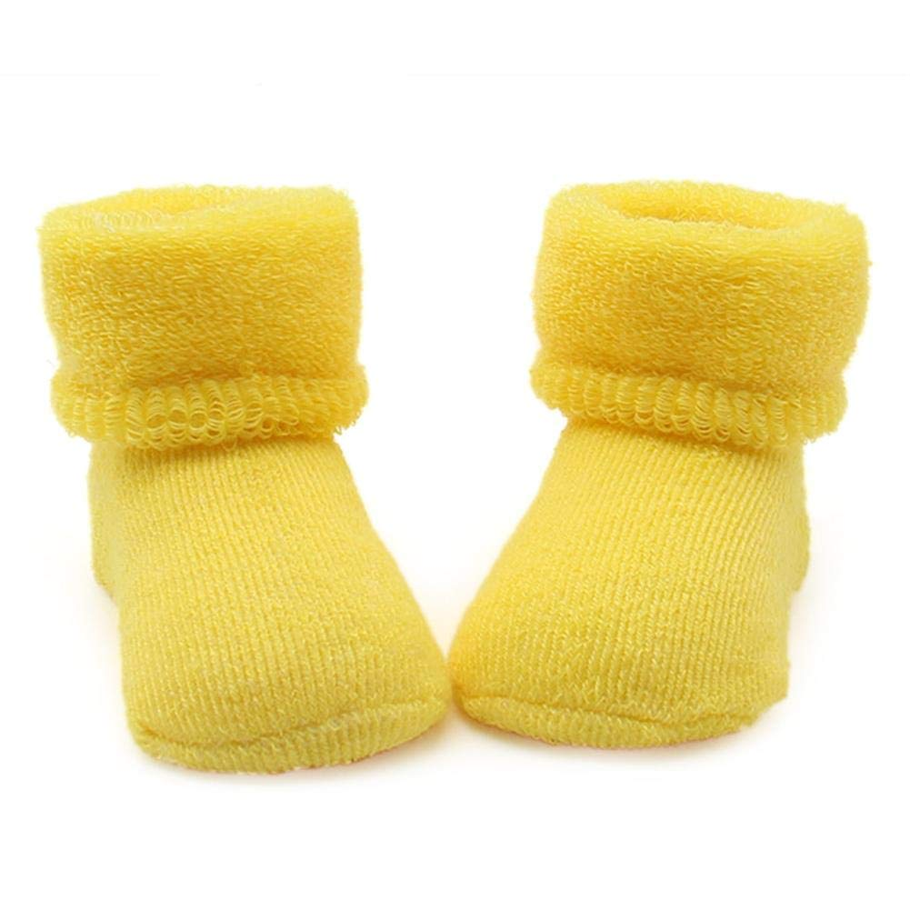Singa-Z Baby Terry Socks Super Soft Comfy 6 Kinds of Colors Elastic Foot Close-Fitting Socks for Baby
