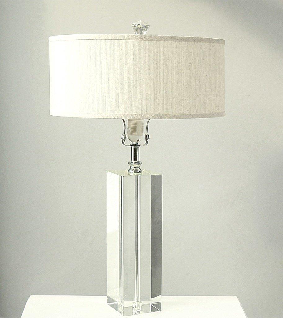 Dekorative Lampe Kristall K9 Lampe Nachttischlampe Hotel Lampe als Lichtquelle E27 (E27 ohne Lichtquelle)