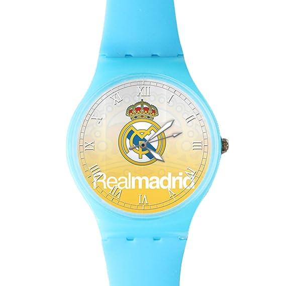 g-store Reyes corona real Madrid FC plástico de cuarzo esfera reloj azul: Amazon.es: Relojes