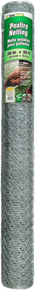 YARDGARD 308421B Fence, 50 Foot, Silver