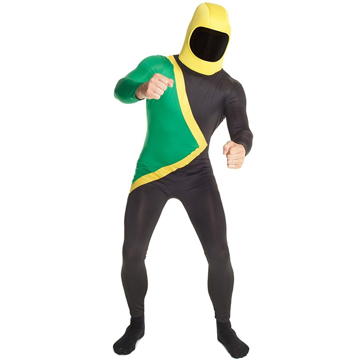 f5a0c75202f Morphsuits Men's Jamaican Bobsled Cool Runnings Halloween Costume