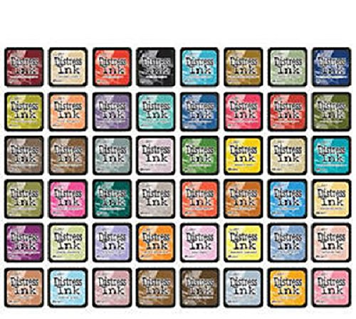 Ranger Tim Holtz Distress Mini Ink Pad Kits Complete Set of 60 pads - All the Colors! Includes Kits #1 through #15 by Ranger, Tim Holtz