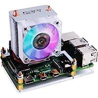 GeeekPi 52Pi ICE Tower Cooler CPU Cooling RGB LED Fan V2.0 for Raspberry Pi 4 Model B & Raspberry Pi 3B+ & Raspberry Pi 3 Model B