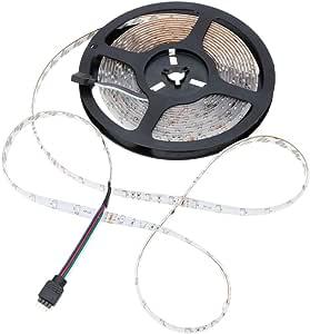مصباح LED RGB Fiexble Strip مع 24 مفتاح تحكم عن بعد RF ومحول 12 فولت 2 أمبير