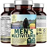 N1N Premium Men's Daily Multivitamin Multimineral Supplement [Gluten Free, Non-GMO], Vitamins A C E D B1 B2 B3 B5 B6 B12 Magnesium, Biotin, Sprulina and Zinc, Antioxidants for Immune Health, 60 Caps