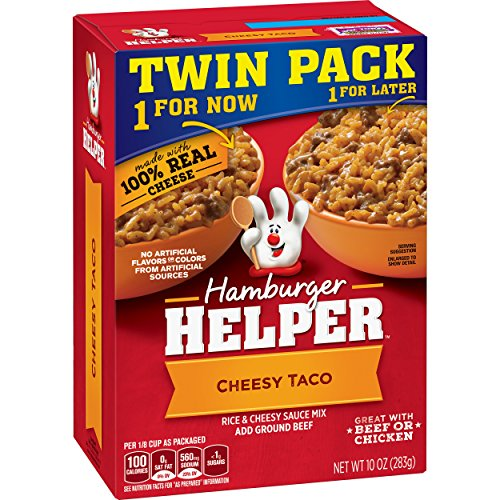 (Betty Crocker Dry Meals Hamburger Helper Cheesy Taco Twin Pack, 10 Ounce)