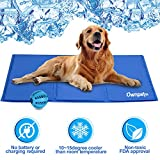 OWNPETS Pet Self Cooling Gel Pad/Cooling Mat, Anti-inflammatory, 100% Safe Non-toxic Materials, For All Dogs, Cats with Pet Toy Ball, 26x20